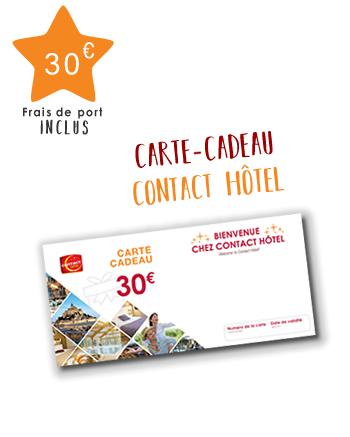 Chèque-cadeaux Contact Hôtel